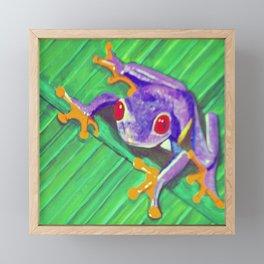 Tree Frog Framed Mini Art Print