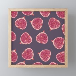 figs pattern Framed Mini Art Print