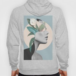 Floral Portrait /collage Hoody