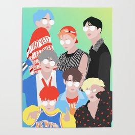 BTS DNA Group Portrait Poster