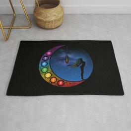Crescent Moon Chakra - Nightscape Rug