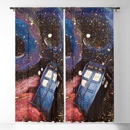 TARDIS in space Blackout Curtain