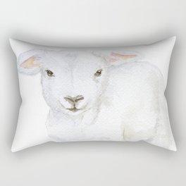 Lamb 2 Watercolor Rectangular Pillow