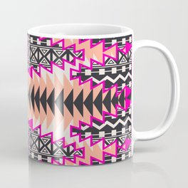 Tribal Beat Geo Magenta Coffee Mug