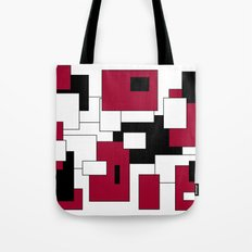 Squares - purple, black and white. Tote Bag
