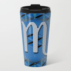 Flower of Life SCORPIO Astrology Design Metal Travel Mug