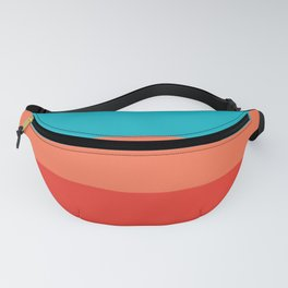 Exotic bright colorful Bohemian Chic teal burgundy Turquoise Orange Stripes Fanny Pack