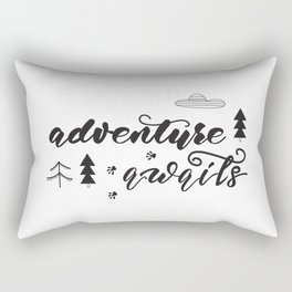 travel lettering Rectangular Pillow