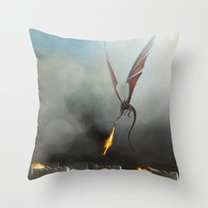 Desert Dragon Throw Pillow