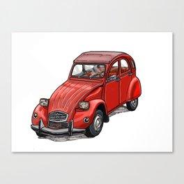 Red 2cv Canvas Print