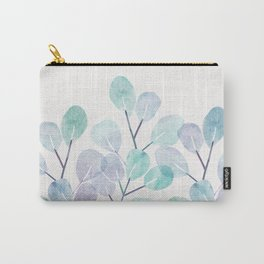 Eucalyptus / Watercolor Collage Carry-All Pouch