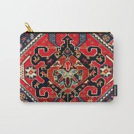 Qashqa'i Antique Fars Persian Bag Face Print Carry-All Pouch