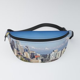 Seattle Overlook with Mt Rainier Fanny Pack