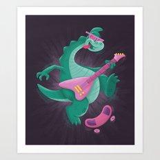 Denver the Last Dinosaur Art Print