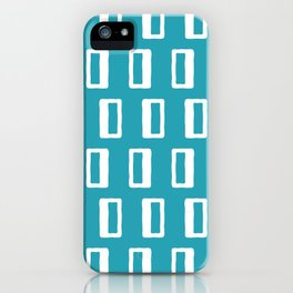Chad Pattern Turquoise iPhone Case
