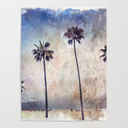 Palm Trees Watercolor Poster