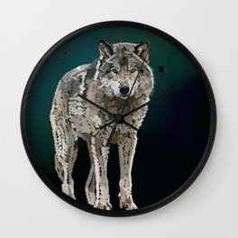 WOLF: THE SILVER HUNTER Wall Clock