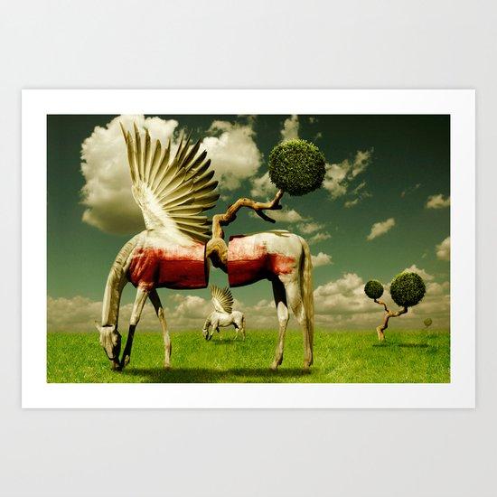 Pegasus Divided Art Print