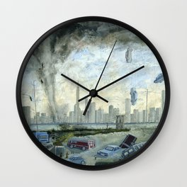 Hurricane Sandy  Wall Clock