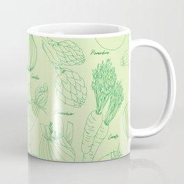 Watercolor Vegetables <mint julep> Coffee Mug