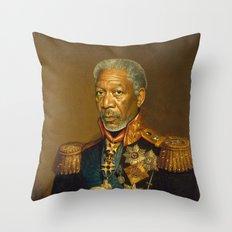 Morgan Freeman - replaceface Throw Pillow