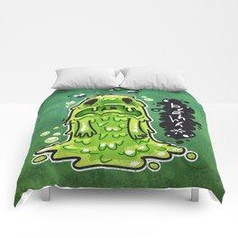 Cartoon Nausea Monster Comforters