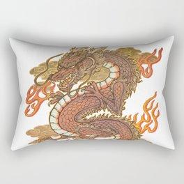 Golden Dragon Rectangular Pillow