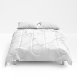 Pure Solid White Marble Stone All Over Comforters