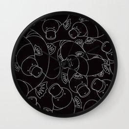 Minimalist Platypus Black and White Wall Clock