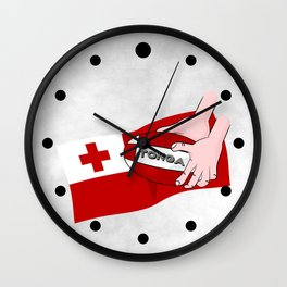 Tonga Rugby Flag Wall Clock