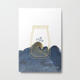Bottled Sea Metal Print