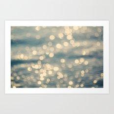Sunlight Dancing on the Sea Art Print