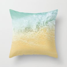 Kite Beach Ocean Splash Throw Pillow