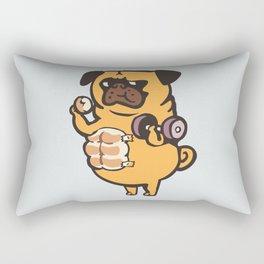 Bread Roll Pug Abs Rectangular Pillow
