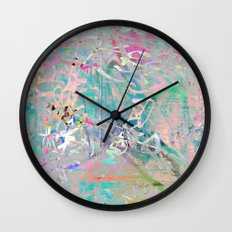 Graffiti Texture Wall Clock