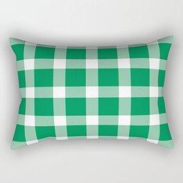 Plaid Emerald Green Rectangular Pillow