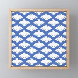 Flying Dove Pattern Framed Mini Art Print