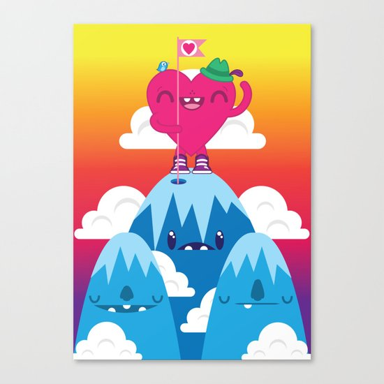 Love on Top Canvas Print