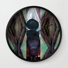 Black Fringe, Big Hat Wall Clock
