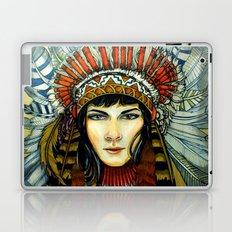 Indian Spirit Girl Laptop & iPad Skin