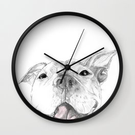 Whaddup :: A Pit Bull Smile Wall Clock