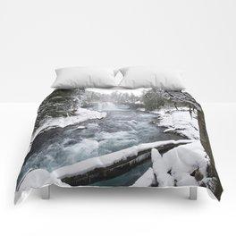 The Wild McKenzie River Waterfall - Nature Photography Comforters