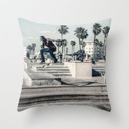 Miami Beach Skatepark Skateboarding poster Skateboarding print photography print Throw Pillow