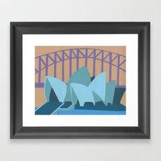 Sydney Harbor Bridge Framed Art Print