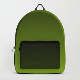 Ombre | Color Gradients | Gradient | Two Tone | Charcoal Grey | Lime Green | Backpack