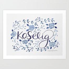 Koselig - Blue Art Print