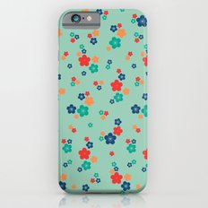 blossom ditsy in grayed jade Slim Case iPhone 6s
