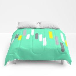 neon stumps - seafoam Comforters