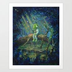 Full-Time Frog's Day Off Art Print
