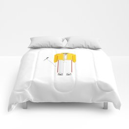 British Singer, Songwriter and Record Producer Minimal Sticker Comforters